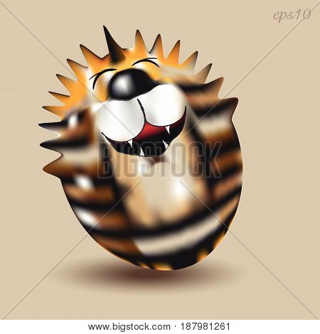 Tiger cheerful Roly Poly  Toy baby cheerful cat striped bright picture author idea design