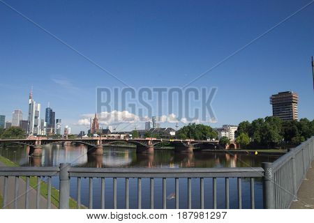 Sun summer in frankfurt on the main
