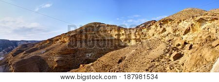 Panoramic View Of Canyon Ein Avdat
