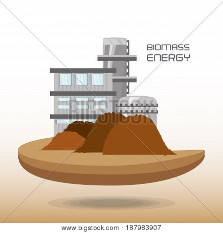 landscape related with biomass energy, vector illustration
