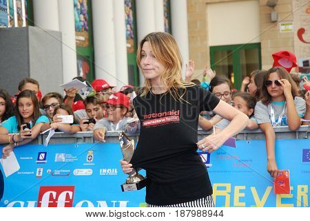 Giffoni Valle Piana Sa Italy - July 19 2013 : Stefania Rocca at Giffoni Film Festival 2013 - on July 19 2013 in Giffoni Valle Piana Italy