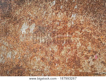 Background texture of surface rusted steel .