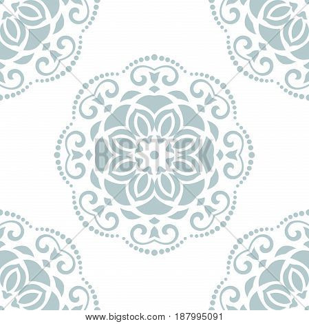 Seamless classic light blue pattern. Traditional orient ornament. Classic vintage background