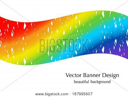 vector rainbow colors banner background with texture