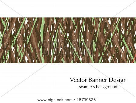 khaki colors seamless banner design made in vector