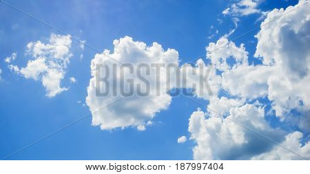 Sky, blue sky and clouds, nature background