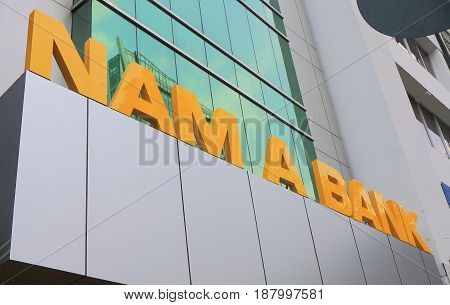 HO CHI MINH CITY VIETNAM - NOVEMBER 28, 2016: Nam A Bank. Nam A Bank is a Vietnamese bank operated in Ho Chi Minh City.