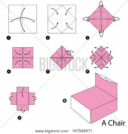 Step by step instructions how to make origami A Chair.