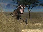 tyrannosaurus attack poster