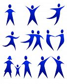 vector illustration of abstract figure movements poster