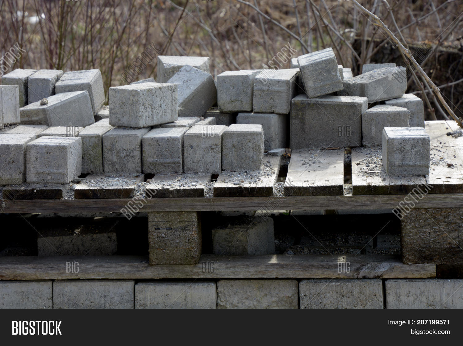 Pile Gray Cement Image & Photo (Free Trial) | Bigstock