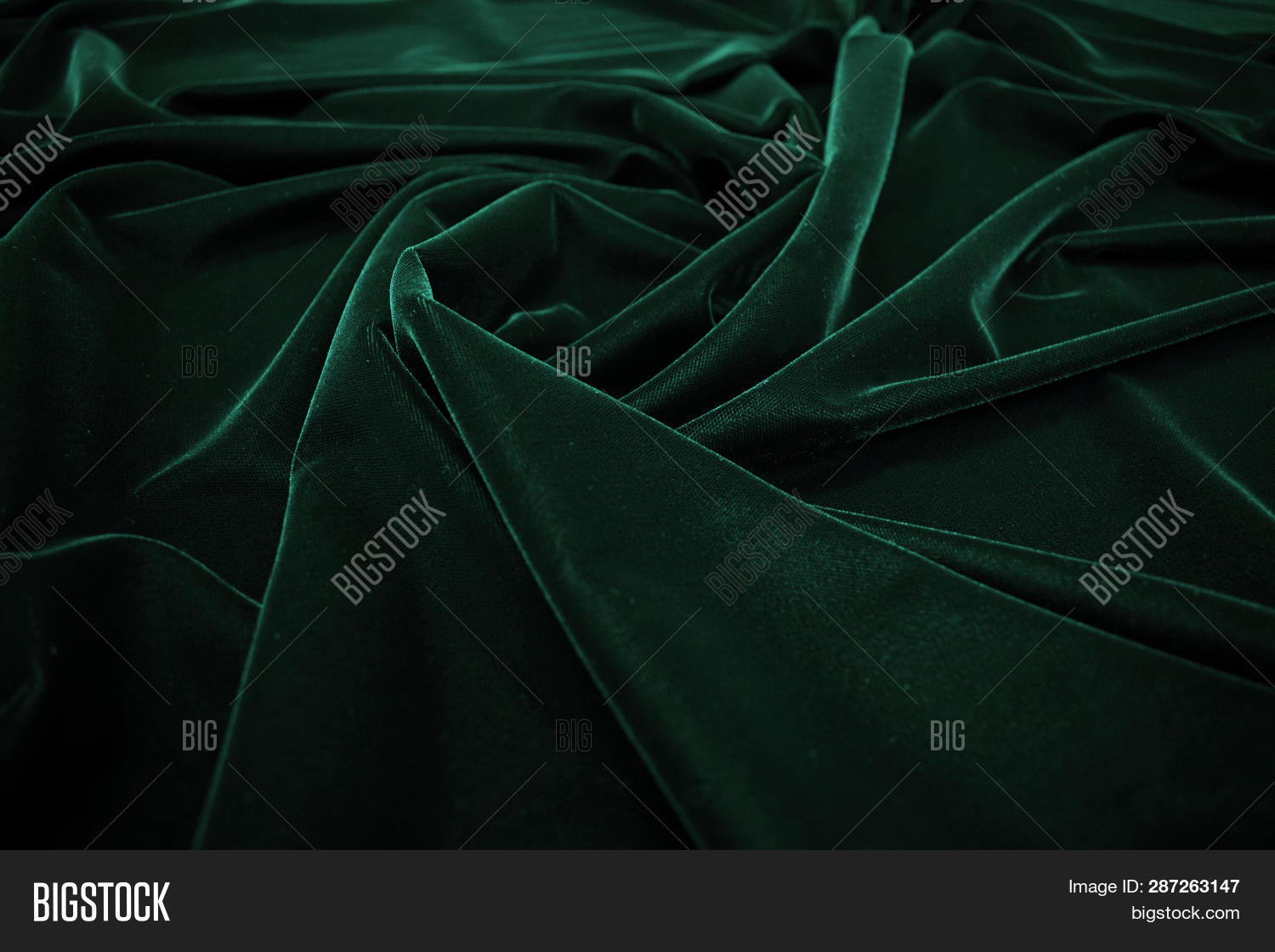 Dark Green Velvet Image Photo Free Trial Bigstock