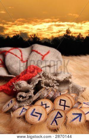 Runes At Sunset