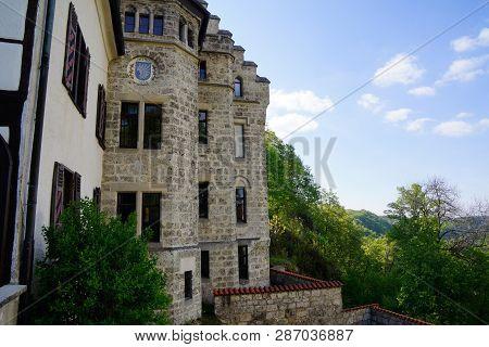 Detail Of Lichtenstein Castle Hillside