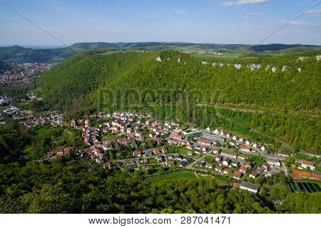 Panorama Picture Of Bad Urach From Hilltop