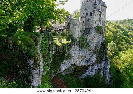 Lichtenstein Caslte With Step Cliff