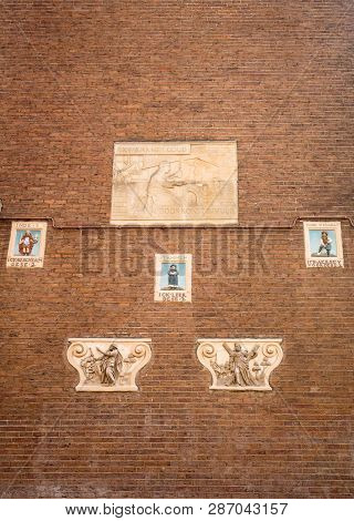 Amsterdam, Netherlands - April 20, 2017: The Amsterdam Museum, , Is A Museum About The History Of Am