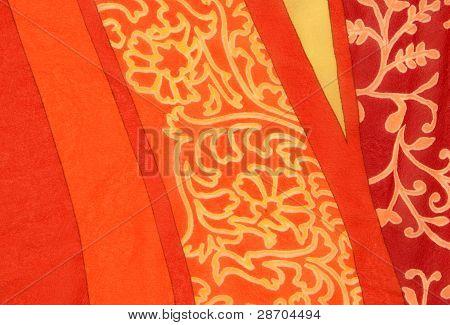 orange floral pattern background