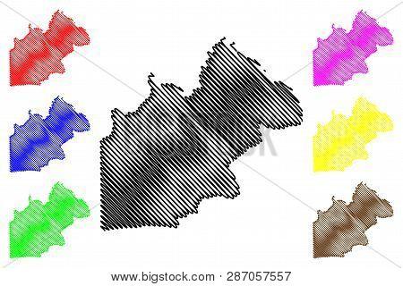 Nakhon Nayok Province (kingdom Of Thailand, Siam, Provinces Of Thailand) Map Vector Illustration, Sc
