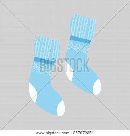 Blue Socks Vector Photo Free Trial Bigstock