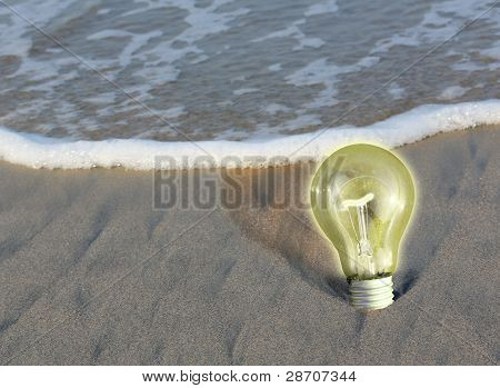Light Bulb, Concept Of Determination And Persistence