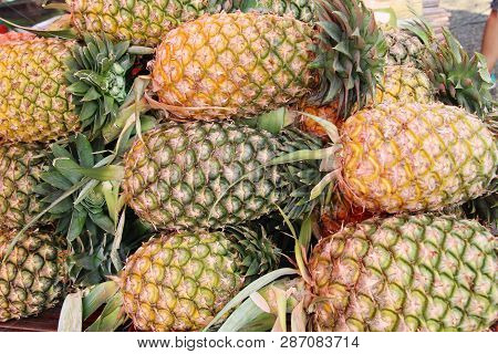 Fresh Pineapple Is Delicious In Street Food