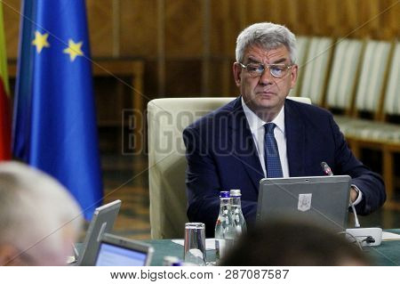 Bucharest, Romania - July 06, 2017: Mihai Tudose, Prime Minister Of Romania, Heads The Government Me