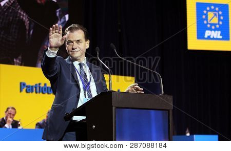 Bucharest, Romania - June 17, 2018: Ludovic Orban Speaks During The Congress Of The National Liberal