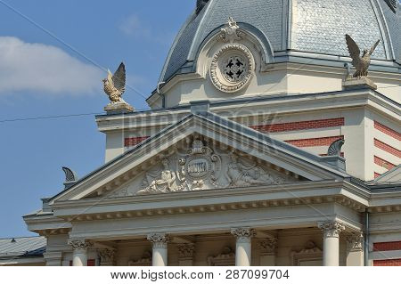 Bucharest, Romania - August 23, 2018: View Of Coltea Hospital, Built Between 1867-1888 By Architect