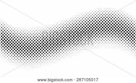 Halftone Gradient Pattern. Abstract Halftone Dots Background. Monochrome Dots Pattern. Pop Art, Comi