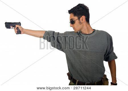 Man With Gun.