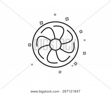 Fan Engine Line Icon Vector Photo Free Trial