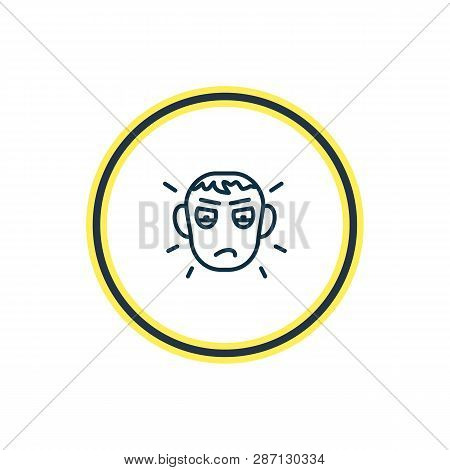Vector Illustration Of Jealousy Icon Line. Beautiful Emoji Element Also Can Be Used As Envy Icon Ele