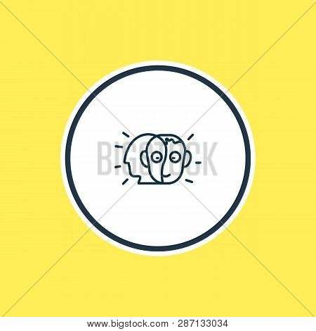 Illustration Of Alter Ego Icon Line. Beautiful Emoji Element Also Can Be Used As Person Icon Element
