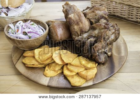 Peruvian Food, Chicharones Made With Pork. Delicius