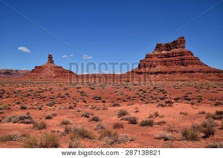 Landscape In Valley Of The Gods In Utah