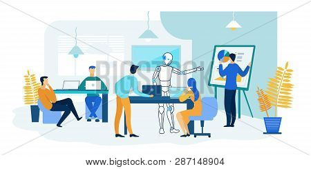Robot People Work Vector & Photo (Free Trial) | Bigstock