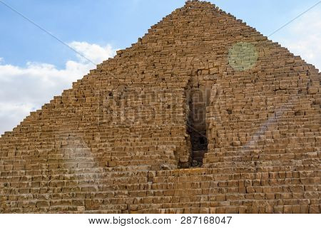 Great Pyramid Of Cheops In Giza Plateau. Cairo, Egypt