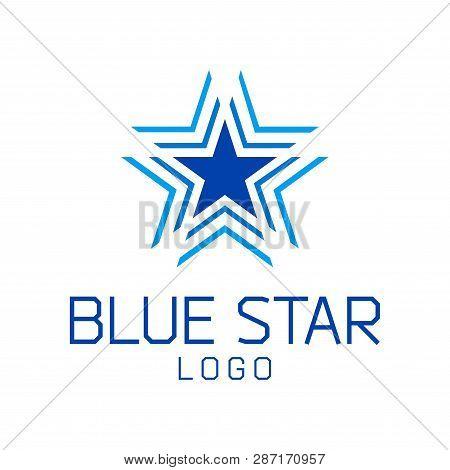 Abstract Star Vector Logo Template. Modern Simple Shining Star Logo Design Branding Corporate Identi
