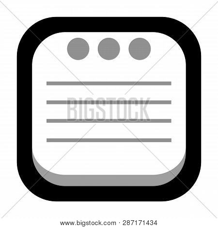 Note Pad Icon Isolated On White Background