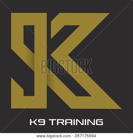 9k As An Example Of A Logo. Vector Illustration.