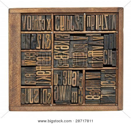 Antique Letters, Numbers And Ligature