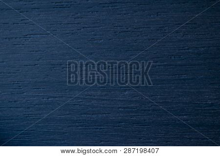 Blue Wood Texture. Navy Blue Wood Background. Closeup View Of Blue Wood Texture And Background. Abst