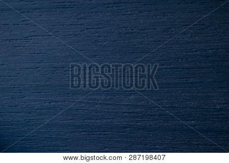 Blue Wood Texture. Navy Blue Wood Background. Closeup View Of Blue Wood Texture And Background. Abst
