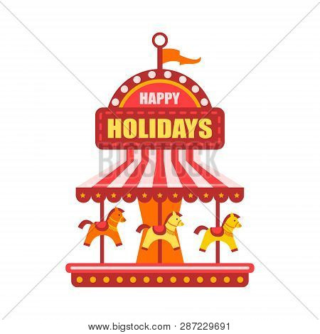 Vector Flat Amusement Vector & Photo (Free Trial) | Bigstock