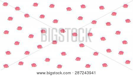 Lotus Flower Pattern Background Design, With Abstract Placement. Flexible To Use For Anyone And Anyo