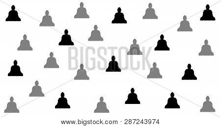Buddhist Style Background Design, With Abstract Placement. Flexible To Use For Anyone And Anyone.