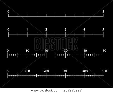 Rulers Inch And Metric Rulers. Measuring Tool. Centimeters And Inches Measuring Scale Cm Metrics Ind
