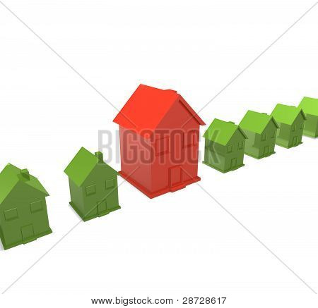 Big house with small houses