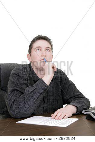 Working Man Thinking